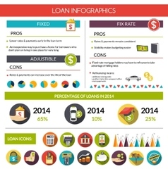 Loan Infographics Set vector