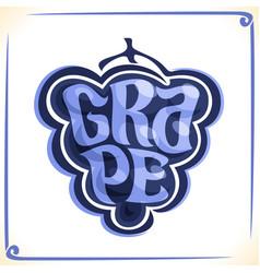 Logo for blue grape vector