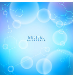 Medical background with molecules vector