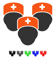 Medical staff flat icon vector