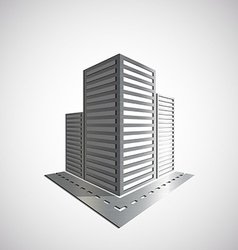 Metal Logo of the real estate vector image