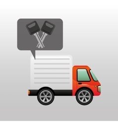 Mini truck keys vehicle icon design vector
