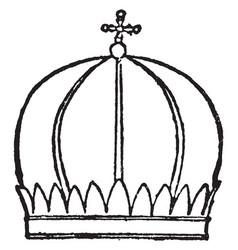 Mitre of armenian priest vintage engraving vector