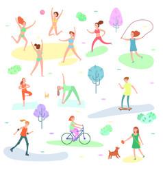 outdoor activity sport running vector image