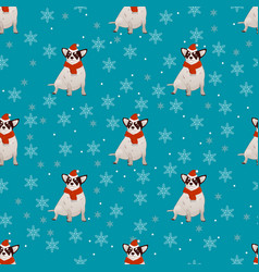 Pattern with a dog vector