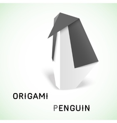 Penguin origami vector image
