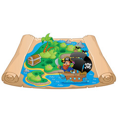 Pirate map theme image 2 vector