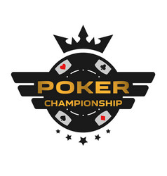 poker championship emblem vector image
