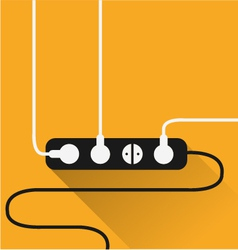 Power outlet icon in minimal style vector