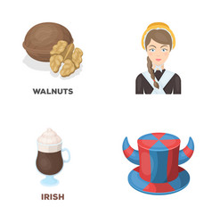 Product drink and other web icon in cartoon style vector