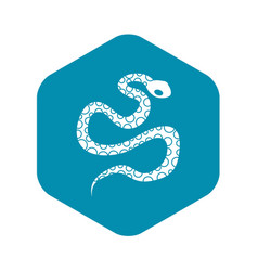 Python snake icon simple style vector