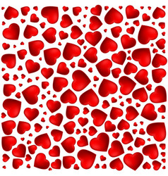 red purple heart pattern of the icons of hearts vector image