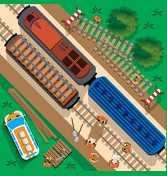Renovation railway vector