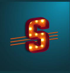 Retro style letter s vector
