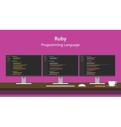 Ruby programming language code vector