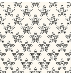 seamless retro pattern with stars vector image