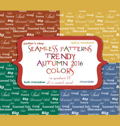 Seamless sale patterns in four colors vector