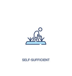 Self-sufficient concept 2 colored icon simple vector