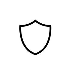 shield line icon black vector image