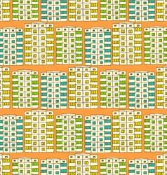 Sketch soviet buildings vector image