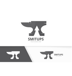 smith and arrow up logo combination vector image