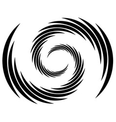 Spiral swirl twirl abstract element over white vector