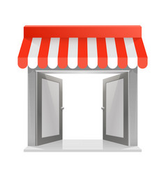 Store striped awning vector