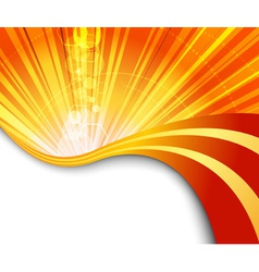 Sunburst flaring vector