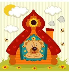 Teddy bear house vector