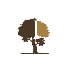 tree letter j vector image