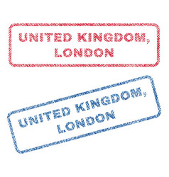 United kingdom london textile stamps vector