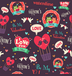 Valentine day wallpaper seamless pattern vector