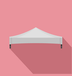 White tent icon flat style vector