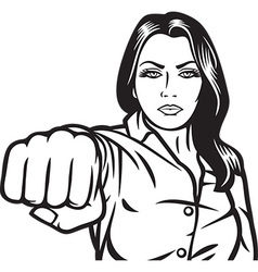 Woman Punching vector image