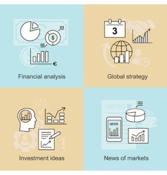 Business concepts News of markets investment vector image