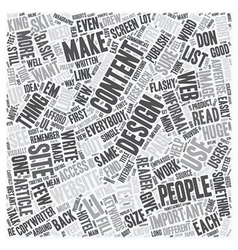 Design for Your Content text background wordcloud vector image vector image