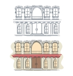 Front of the house in french retro style vector image