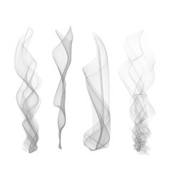 set of smoke effect smooth flame background vector image vector image