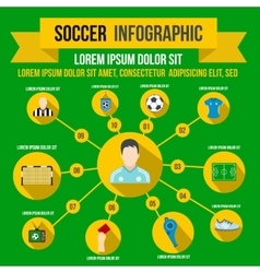 Soccer infographic flat style vector image