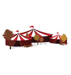 winter circus vector image