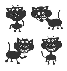 Funny Black Cats vector image vector image