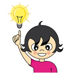 Girl with an idea vector image