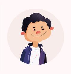 simple cartoon avatar vector image vector image