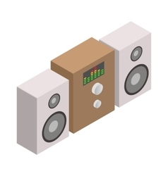 Sound system icon isometric 3d style vector image vector image