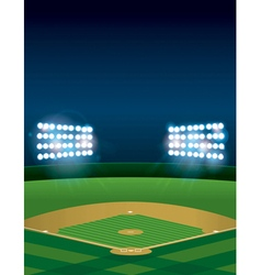 Vertical Baseball Stadium vector image