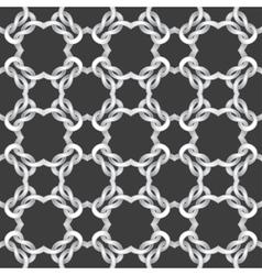 White net on black background seamless pattern vector