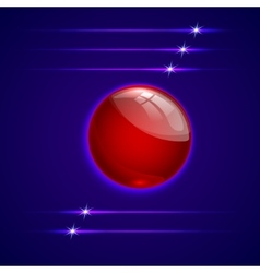 abstract background with glass round sphere vector image