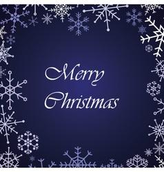 Merry christmas snow flake blue card eps10 vector