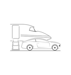 private jet and car vector image vector image
