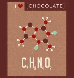 retro poster of chocolate molecule vector image